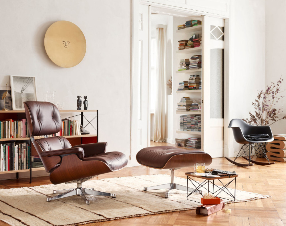 Eames Style Lounge Chair (коричневый)